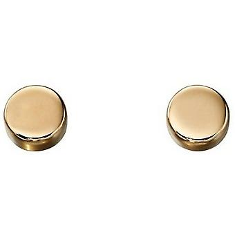 Elements Gold Disc Earrings - Yellow Gold
