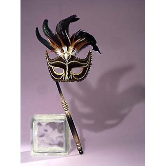 Maskerade venezianische Maske schwarz