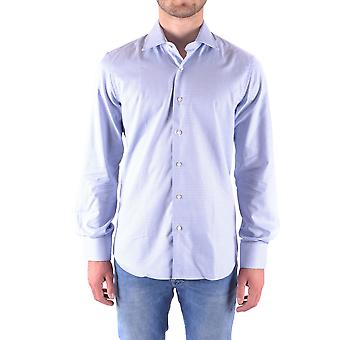 Fay Ezbc035007 Men's Light Blue Cotton Shirt