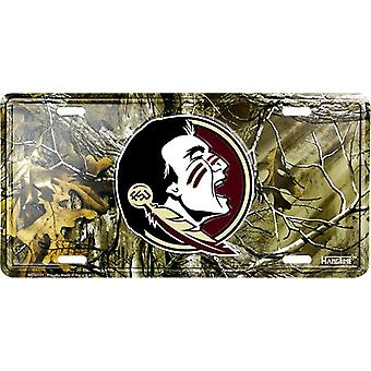 Florida State Seminoles NCAA Camo License Plate