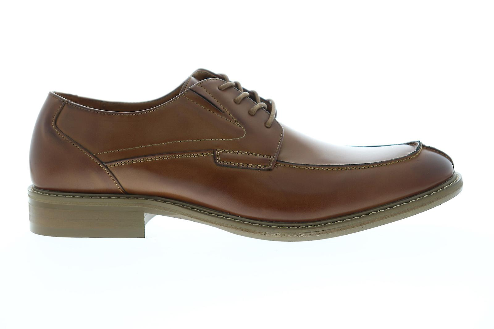 Unlisted par Kenneth Cole Kinley Lace Up Mens Brown Dress Lace Up Oxfords Chaussures - Remise particulière