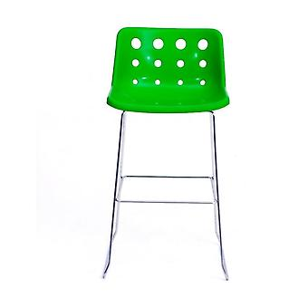 Loft Robin Day Skid Green Plastic Polo Bar Hocker
