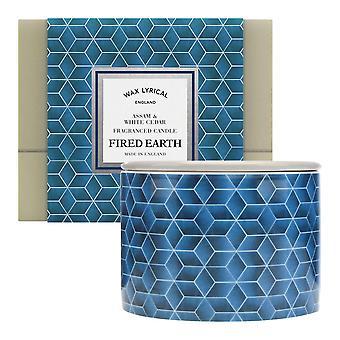 Wax Lyrical Fired Earth Fragranced 2 Wick Ceramic Candle Jar Assam & White Cedar