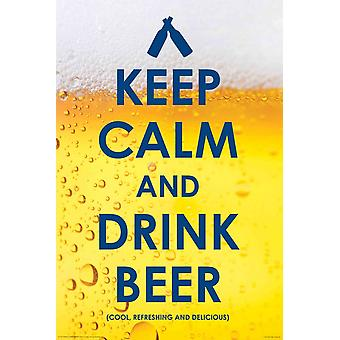 Poster - Drinking - Keep Calm Drink Beer Wall Art Licensed Gifts Toys 241140