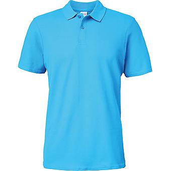 Gildan-Softstyle Herre dobbelt Piqué Polo skjorte