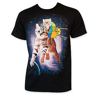 Adventure tid ridning kat mænds Tee Shirt