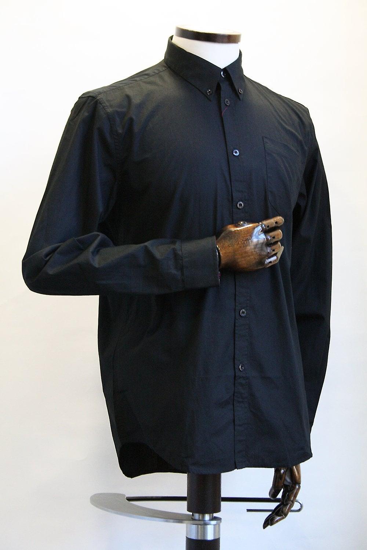 Merc London Albin Black Cotton Oxford Shirt