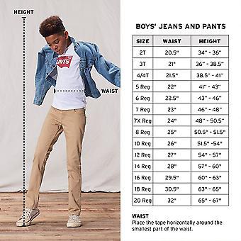 Levi's Boys' Big 511 Slim Fit Soft Brushed Pants, Black, 14