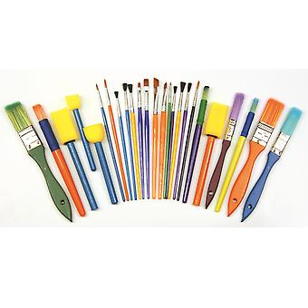 25 Piece Kids Paint Brushes Starter Set for Kids Crafts | Kids Paint Brushes
