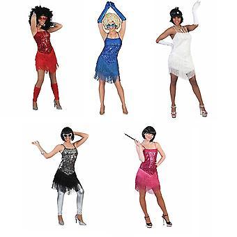 Charleston klänning Fringie kostym kvinnors 20s stängnät klänning kvinnors kostym tema Party Carnival