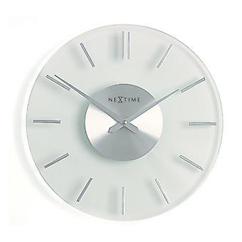 NeXtime - Horloge murale 31 cm- Aluminium - Verre - Apos;Stripe-apos;