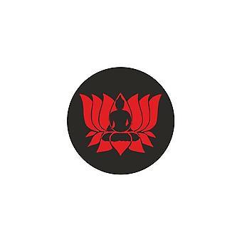 Adesivo Sticker Auto Moto Vinyl Bandiera Lotus Red Buddha