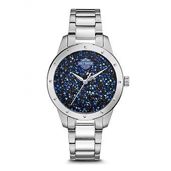 Harley Davidson 76L188 Women's Crystal Set Wristwatch