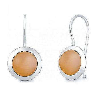 Quinn - Silver earrings with moonstone - 035839949