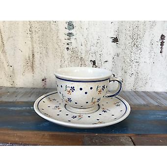 cup saucer around 220 ml, old Bunzlauer ceramic with glaze cracks possibly