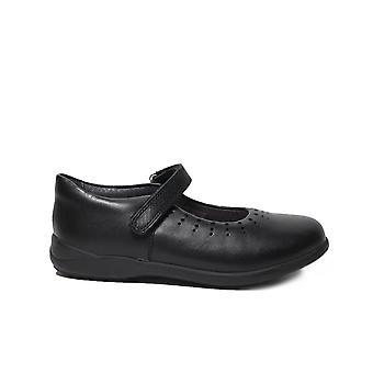 Startrite Mary Jane svart läder flickor RIP Tape Mary Jane skolan skor