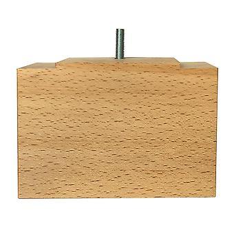 Rectangular wooden furniture Leg 11 cm (M8)