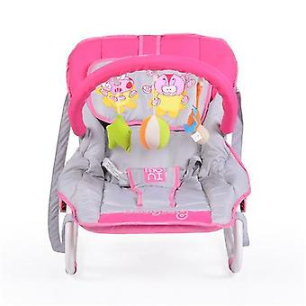 Baby rocker Candy adjustable with pillow, play bow with toy, carrying handle