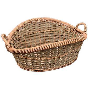 Roll Top Loose Weave Wicker Wash Basket