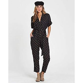 Billabong Women's Bed Story Printed Jumpsuit Black Small