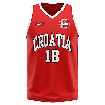 Croatia Home Concept Basketball Shirt - Little Boys