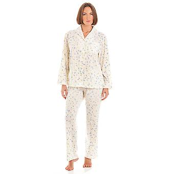 Ladies Marquise Floral Print Polycotton Long Nightwear Pyjamas Sleepwear