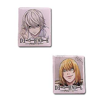 Pin Set - Death Note - New Near & Mello (Set of 2) Anime Licensed ge7486