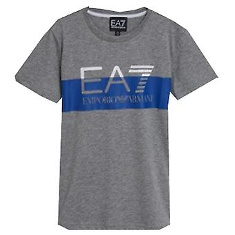 EA7 الأولاد رمادي تي شيرت