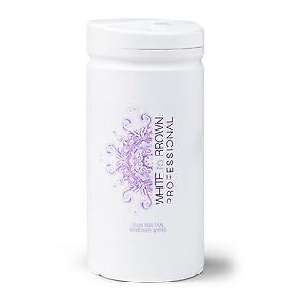 White to Brown White To Brown Sunless Tan Remover Wipes
