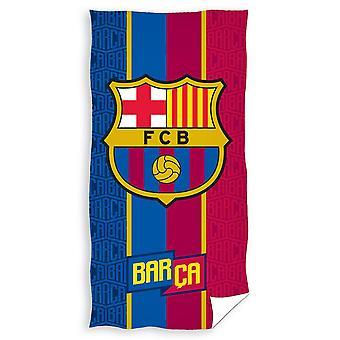 FC Barcelona Crest velour strand håndkle