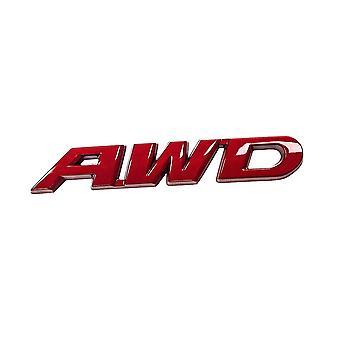 バンパーステッカー, AWD - レッド