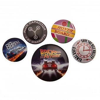 Back To The Future Button Badge Set