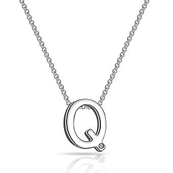 Initial necklace letter q created with swarovski® crystals