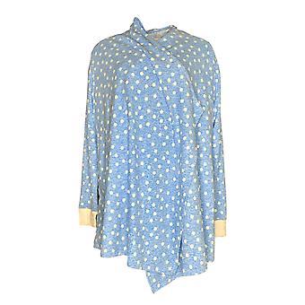Carole Hochman Kvinner's Pyjamas Topp Høy Vaffel Fleece Blå A294070