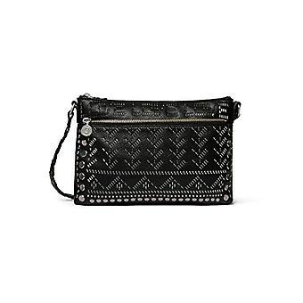 Desigual Black Woman shoulder bag (BLACK 2000)) 4x17.5x27.2 cm (B x H x T)