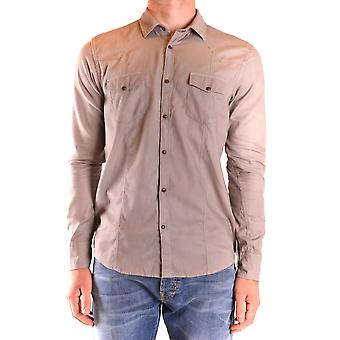 Messagerie Ezbc431001 Men's Beige Cotton Shirt