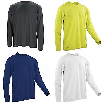 Spiro Mens Sports Quick-Dry Long Sleeve Performance T-Shirt