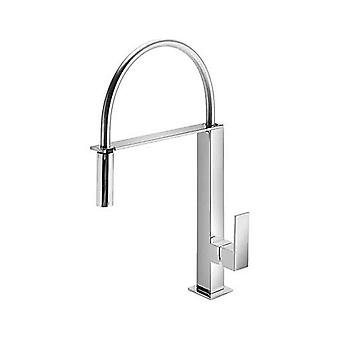 Square Kitchen Mixer With Pullable Shower,Series Cuadro Tres Modernest
