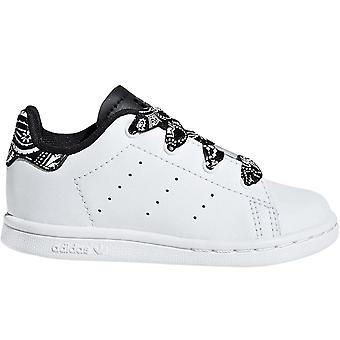 adidas Originals Boys Kids Stan Smith Low Rise Trainer Sneakers Schuhe - Weiß