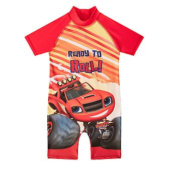 Blaze And The Monster Machines Official Gift Toddler Boys Kids Swim Surf Suit