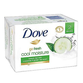 Dove go fresh cool moisture bar, cucumber & green tea scent, 4 oz, 2 ea