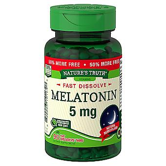 Nature's truth melatonin, 5 mg, fast dissolve tablets, natural berry, 90 ea