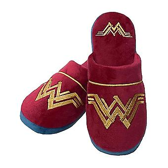 DC Comics Wonder Woman House Shoes Women's/Ladies Red Logo Slippers