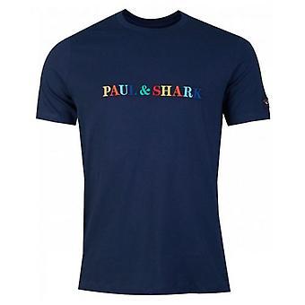 Paul And Shark Multi Colour Script Logo T-Shirt