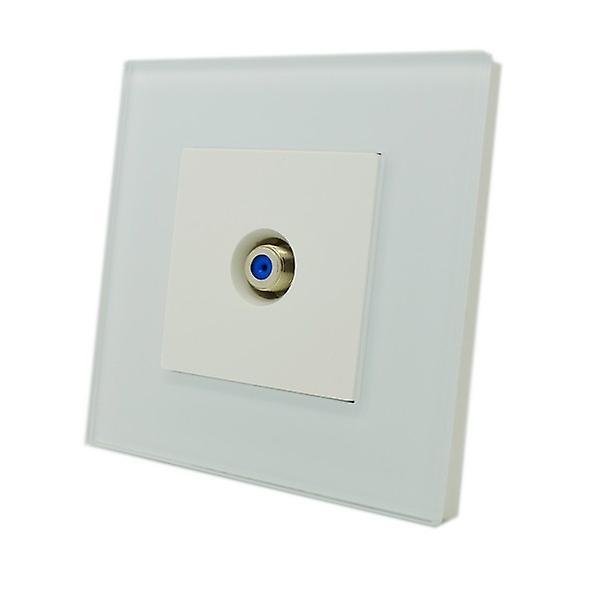I LumoS Luxury White Glass Virgin, Sky Satellite F Screw Type Single Socket