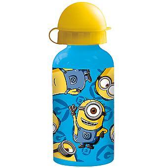 MINIONS Children's aluminum water bottle blue yellow 400 ml