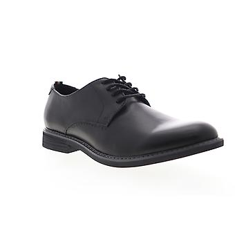 Izod Imperial  Mens Black Leather Casual Lace Up Oxfords Shoes