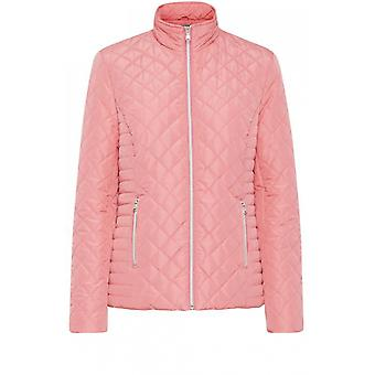 b.young Pink Quilted Jacket
