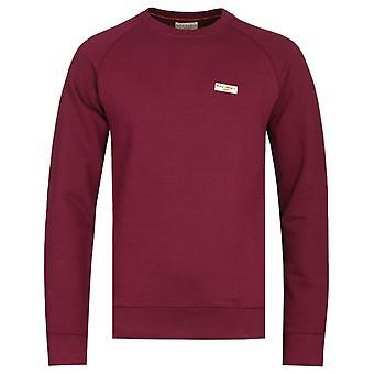 Nudie Jeans Samuel Burgundy Logo Sweatshirt