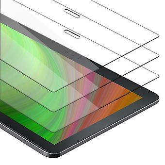 """Cadorabo 3x Tank Foil for Lenovo Tab 4 10 PLUS (10.1"""" inches) - Protective film in KRISTALL KLAR - 3 Pack Tempered Display Protective Glass in 9H Hardness with 3D Touch Compatibility"""